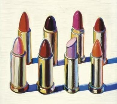 Wayne Thiebald, Lipstick (detail), 1964